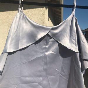 LC Lauren Conrad Tops - Lauren Conrad Cold shoulder grey dressy top